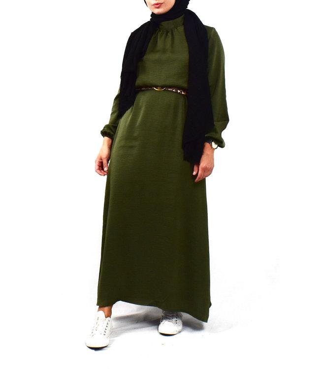 Satin dress - Khaki