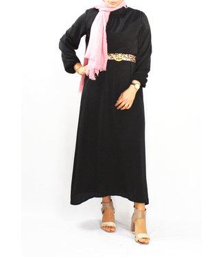 Satijnen jurk - Zwart