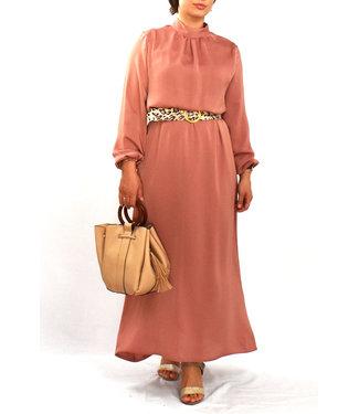 Satijnen jurk - Poederroze
