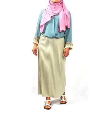 Pleated skirt - Mint green