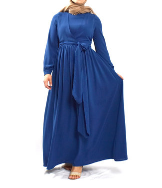Wrap dress - royal blue