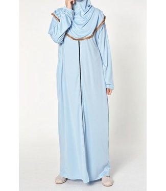 Ahuse Gebedsjurk met rits - Hemelsblauw