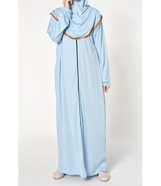 Ahuse Prayer dress with zipper - Sky blue