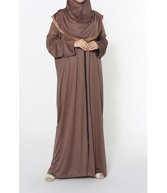 Ahuse Prayer dress with zipper - Chocolate