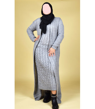 Knitted set - Gray