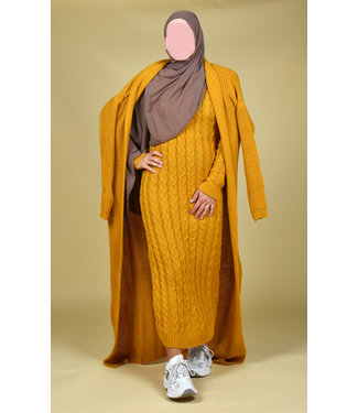 Knitted set - Ocher