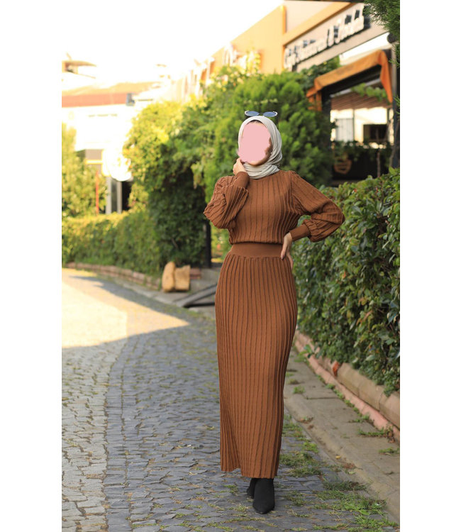 Dress - Brown