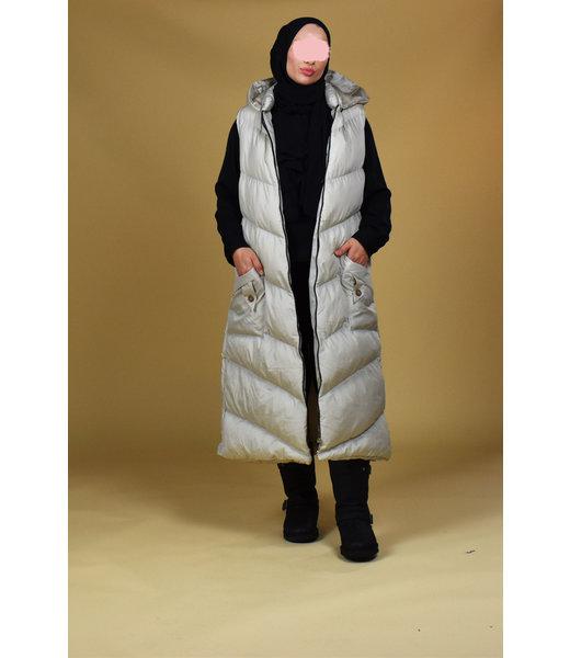Sleeveless jacket - Cream