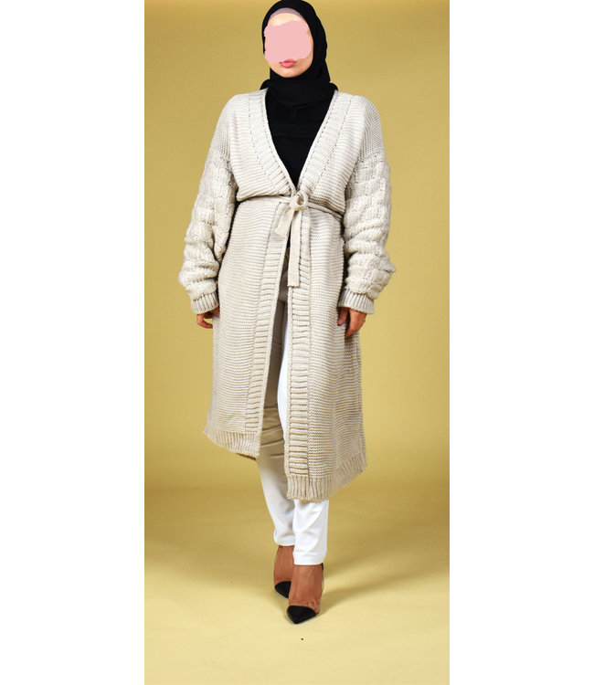 Long cardigan - Beige
