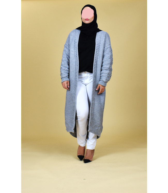 Long cardigan - Gray
