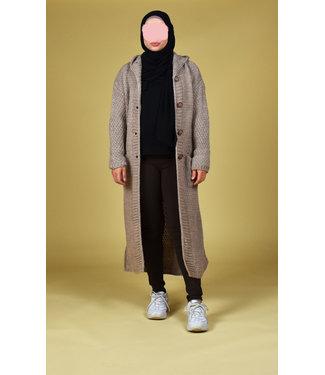 Knitted cardigan - Dark beige