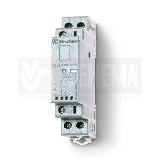 Finder 25A Magneetschakelaar AgSnO2 - 2 contacten