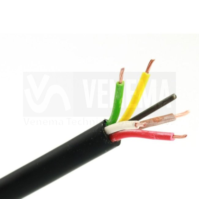 Ripca Meervoudige kabel rond 5x0.65mm2 - 100 meter