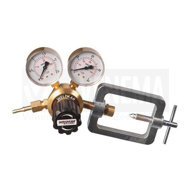 Weldkar Drukregelaar acetyleen dubbele manometer (0 - 2,5 bar)
