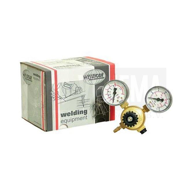 Weldkar Menggas Drukregelaar Mini (dubbele manometer)
