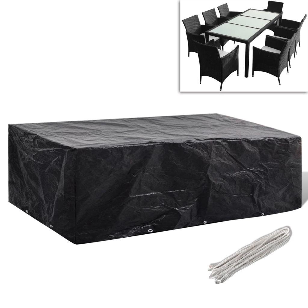 Housse de mobilier de jardin Résine tressée 10œillets 300x140cm