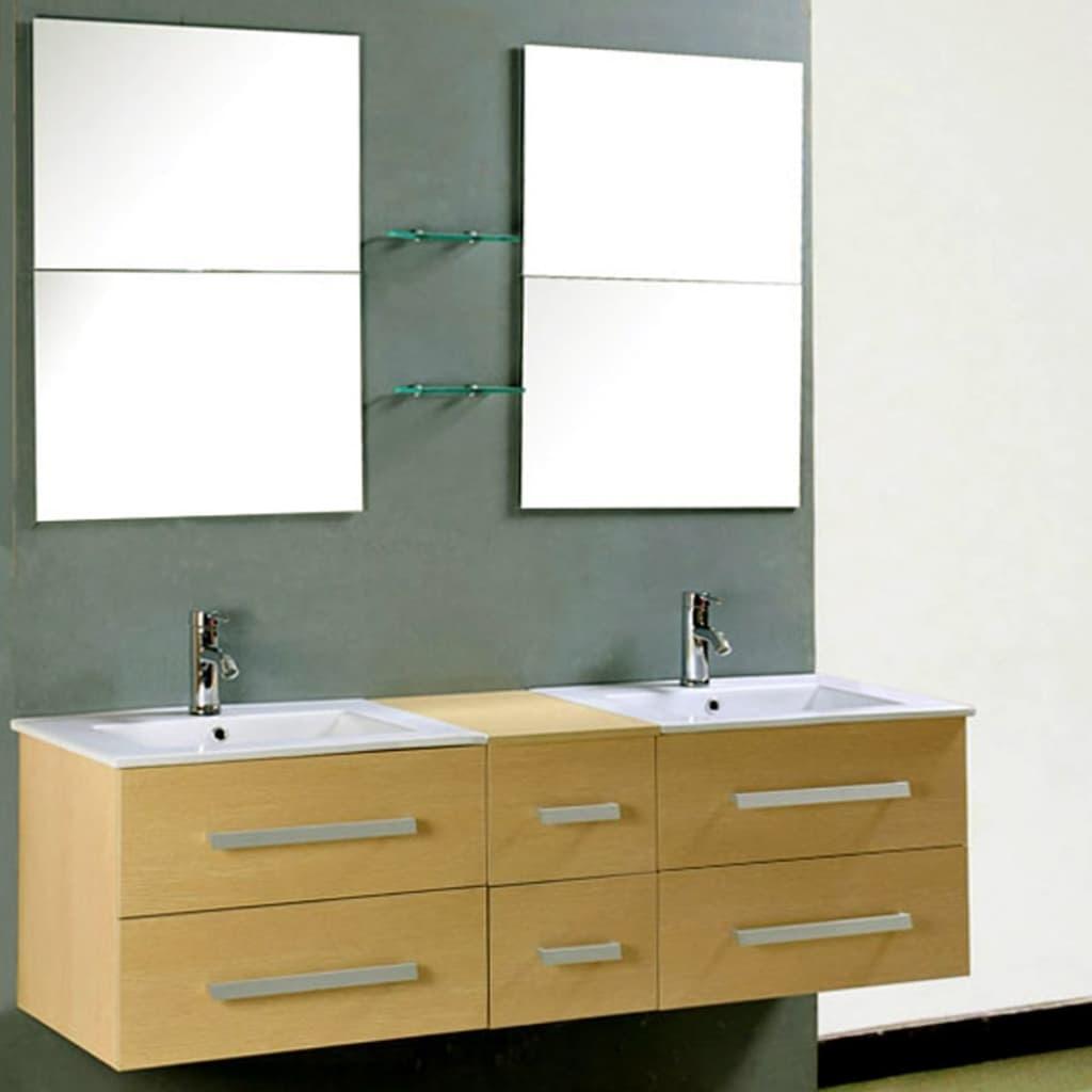 Meuble de salle de bain design, beige