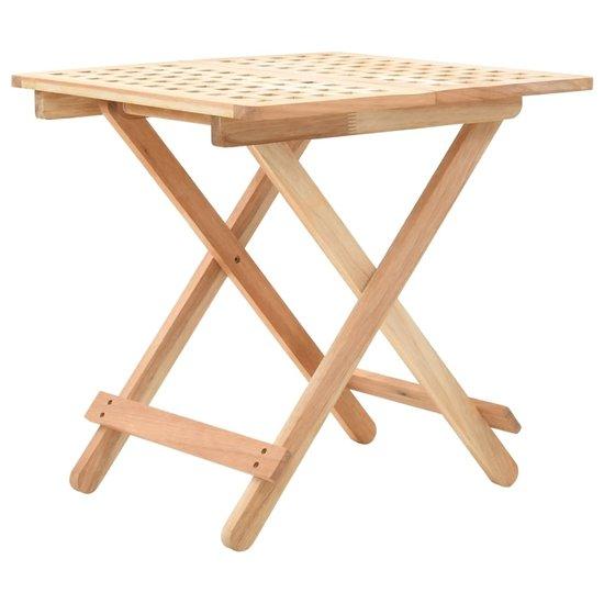 Table D Appoint Pliante 50 X 50 X 49 Cm Bois De Noyer Massif