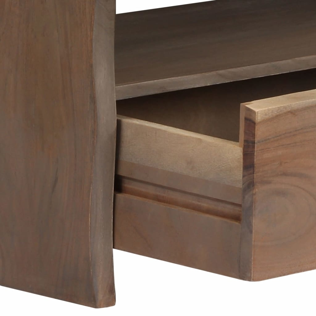 Meuble Tv Table Basse Assorti table basse acacia massif bord assorti 90 x 50 x 40 cm gris
