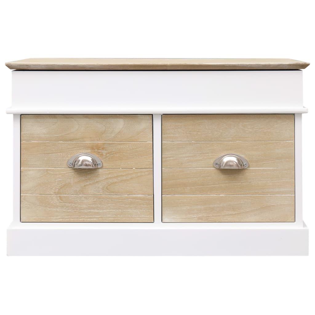 Petit Banc D Entrée Avec Rangement banc d'entrée 70 x 35 x 45 cm bois de paulownia