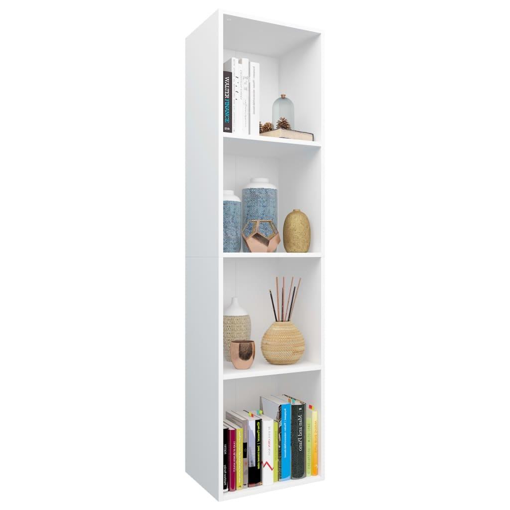 Meuble Tv Bibliothèque Blanc bibliothèque/meuble tv blanc 36 x 30 x 143 cm aggloméré