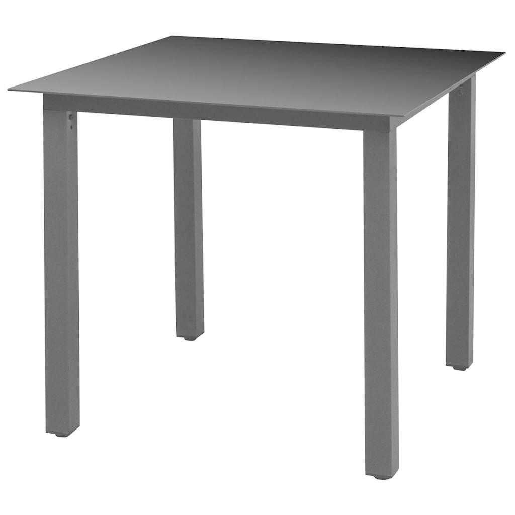 coussins pcs Mobilier avec dîner d'extérieur 5 Aluminium Noir à XPZuOikT