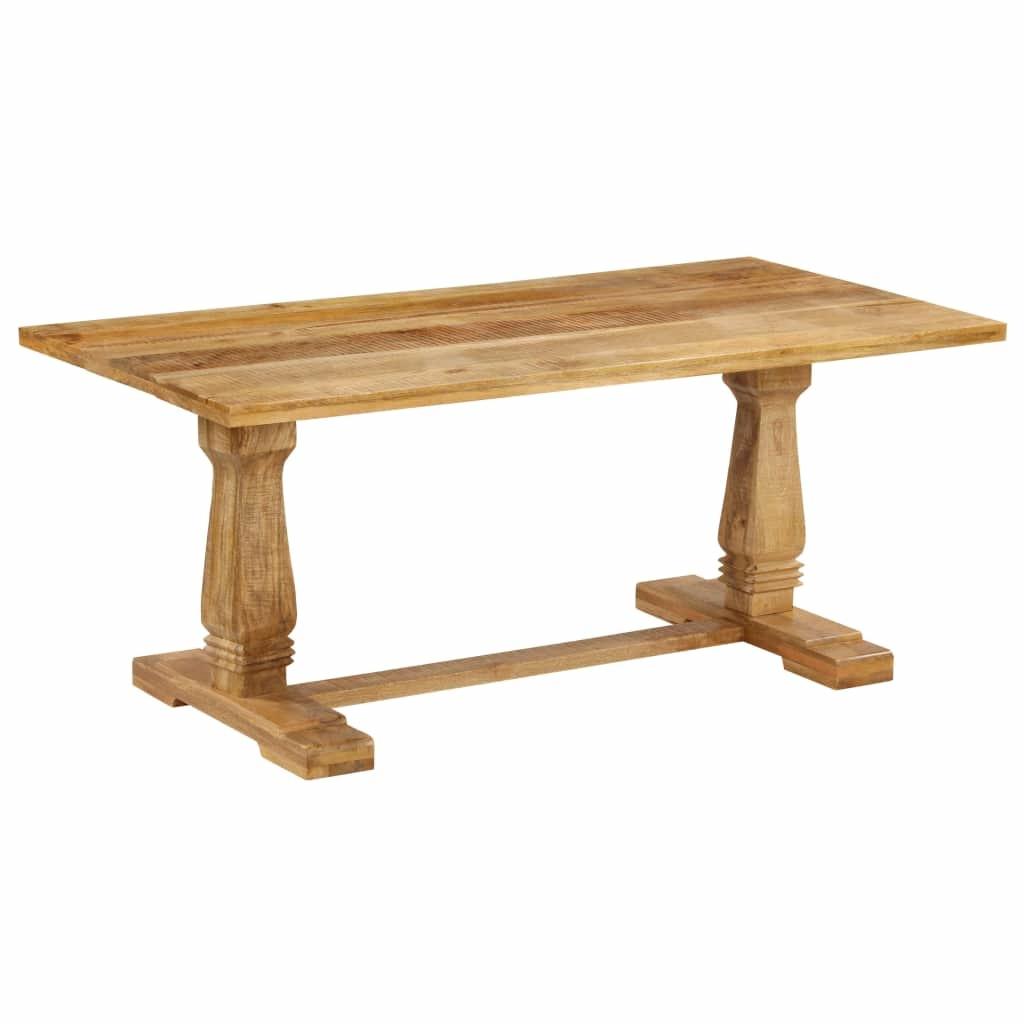 Rehausser Une Table De Salle A Manger table de salle à manger bois de manguier massif 180 x 90 x 76cm