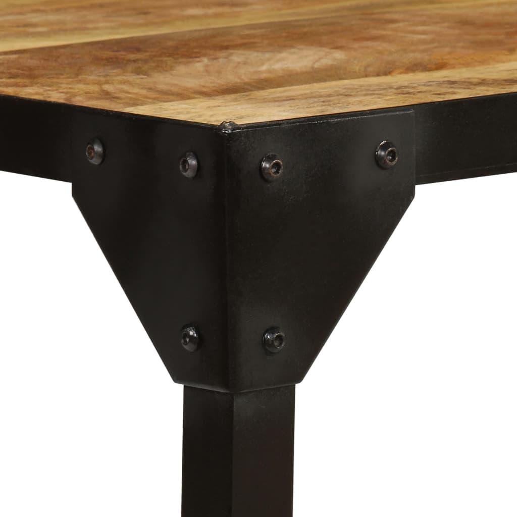 Table Basse Bois Massif De Manguier Brut Et Acier 110 Cm Zahke Ch