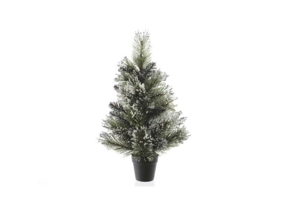 Frosted Finley Mini Tree - Green/White - 60 cm