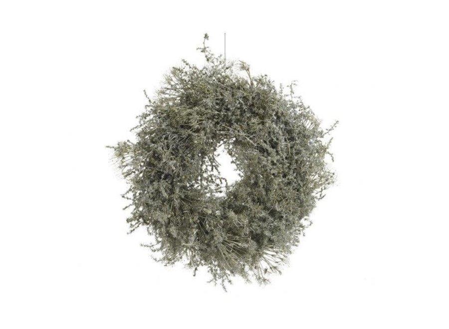 green asparagus wreath waxed 60cm