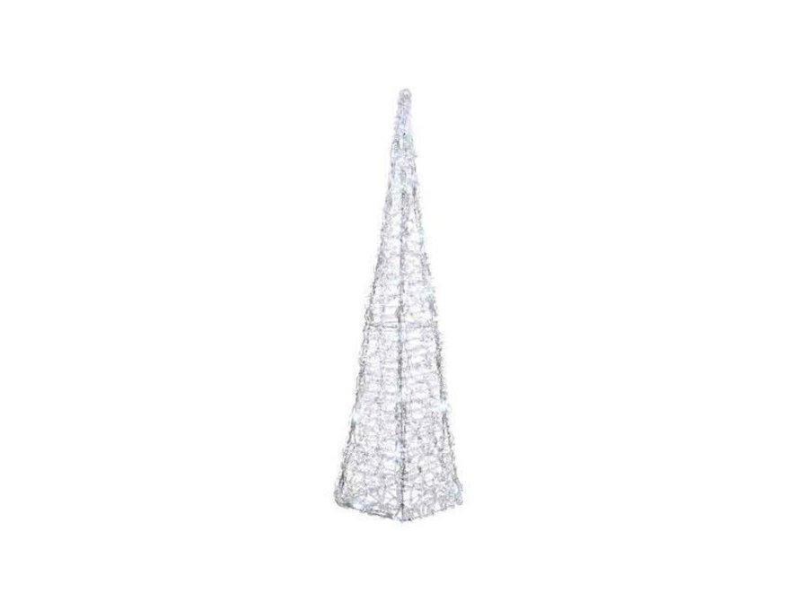 Led Acrylic Pyramid Flash Outdoors - 50 Lights - Cool White - 17X17X89 cm-50L