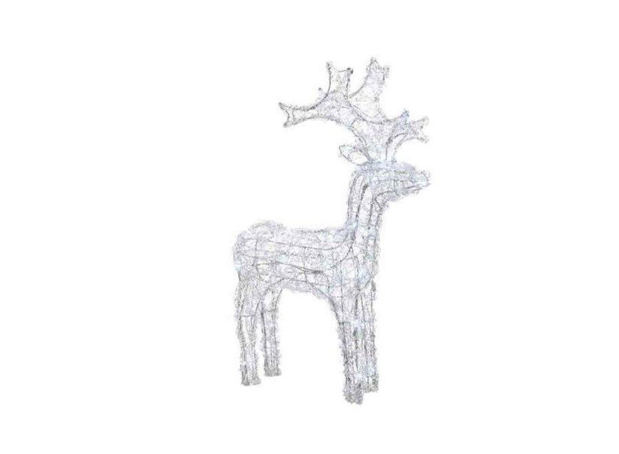 Led Acryl Reindeer Flash Outdoors - 120 Lights - Cool White - 120 cm-120L