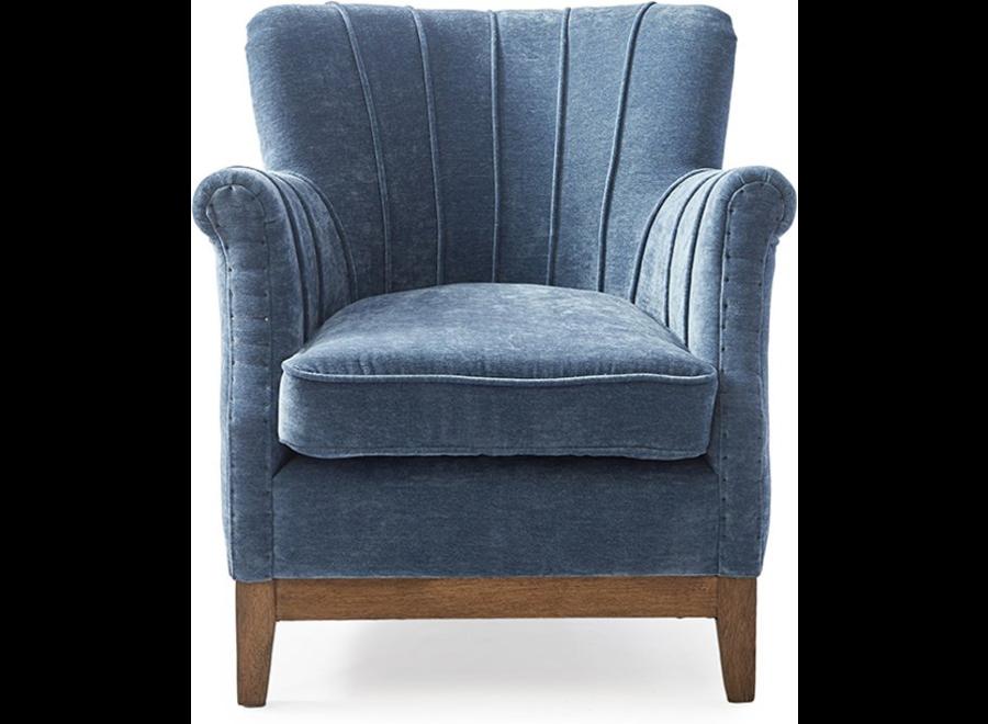 East Village Armchair Velvet Indigo