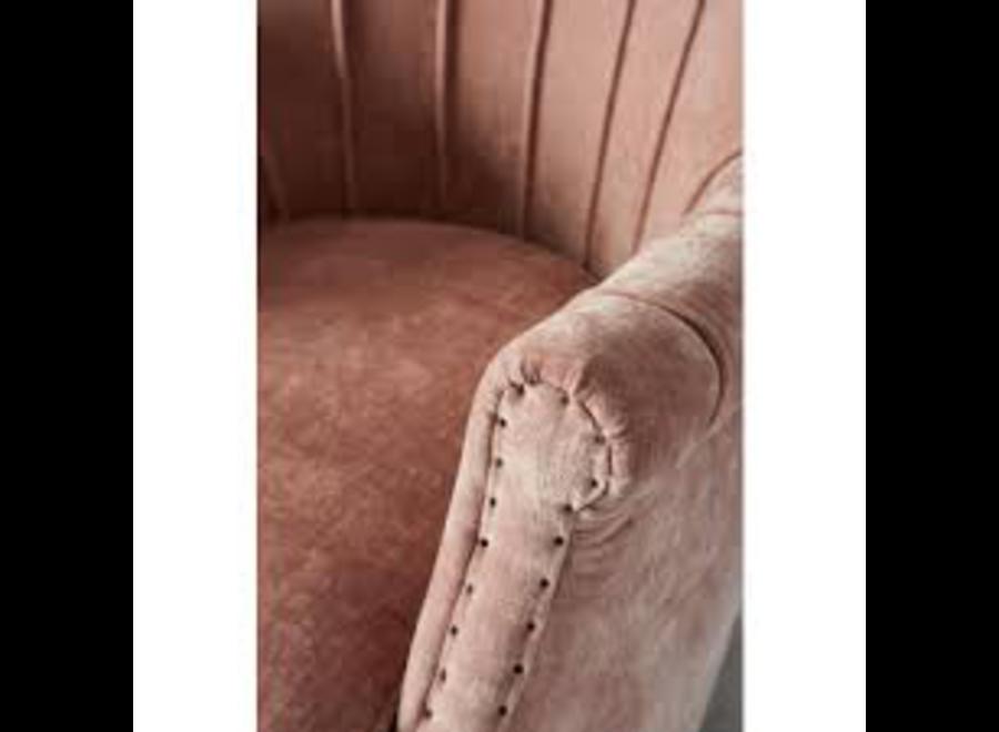 East Village Armchair Velvet Pink