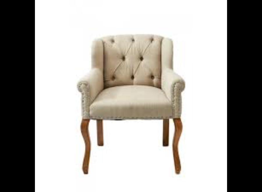 Keith II Lowback Armchair lin Flax