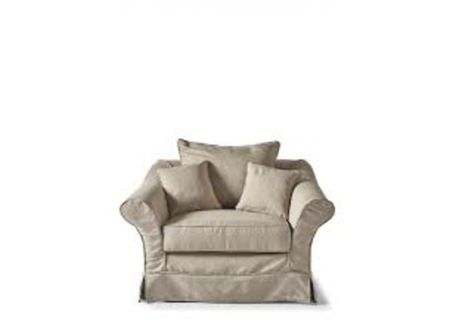 Bond Street Love Seat Alaskan White