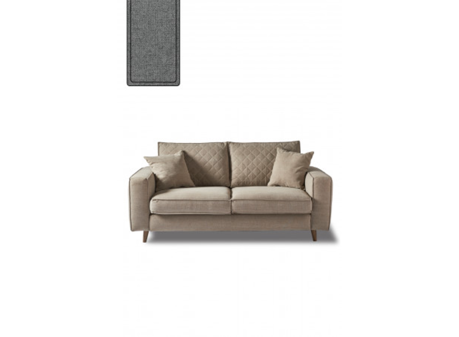 Kendall Sofa 2,5 Seater SteelGr