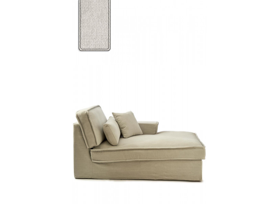 Metropolis Chaise L Right Vel Pearl