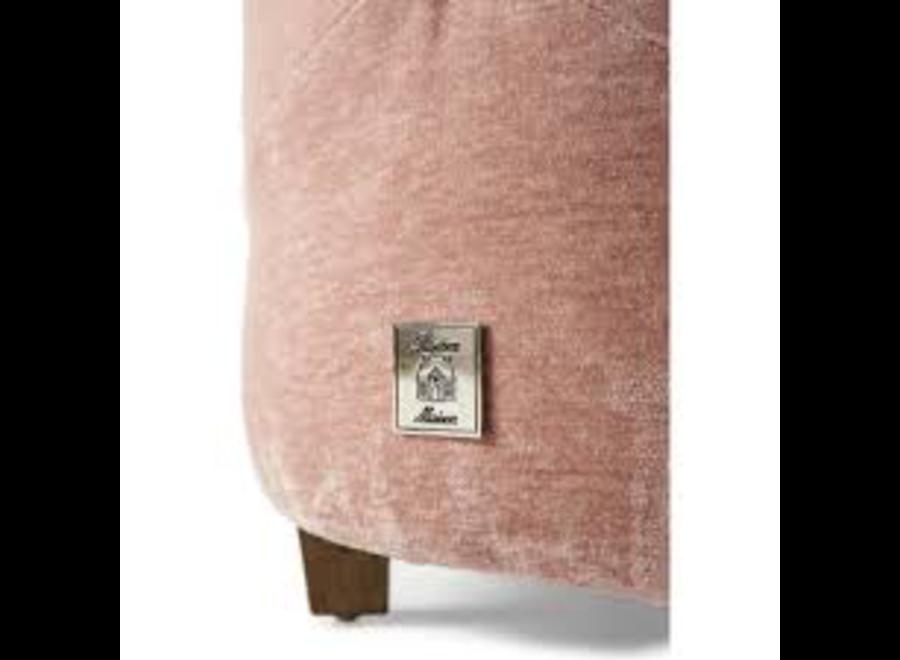 Bowery Footstool Velvet Pink