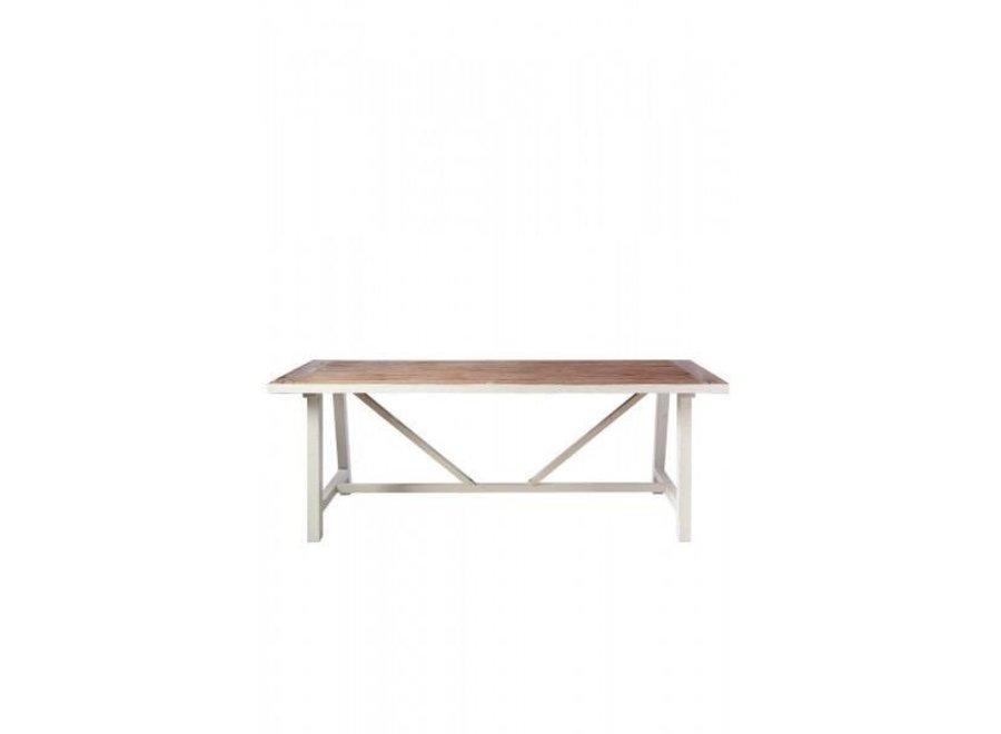 Hampton Bridge Dining Table 220X90 - White / Natural - 220X90