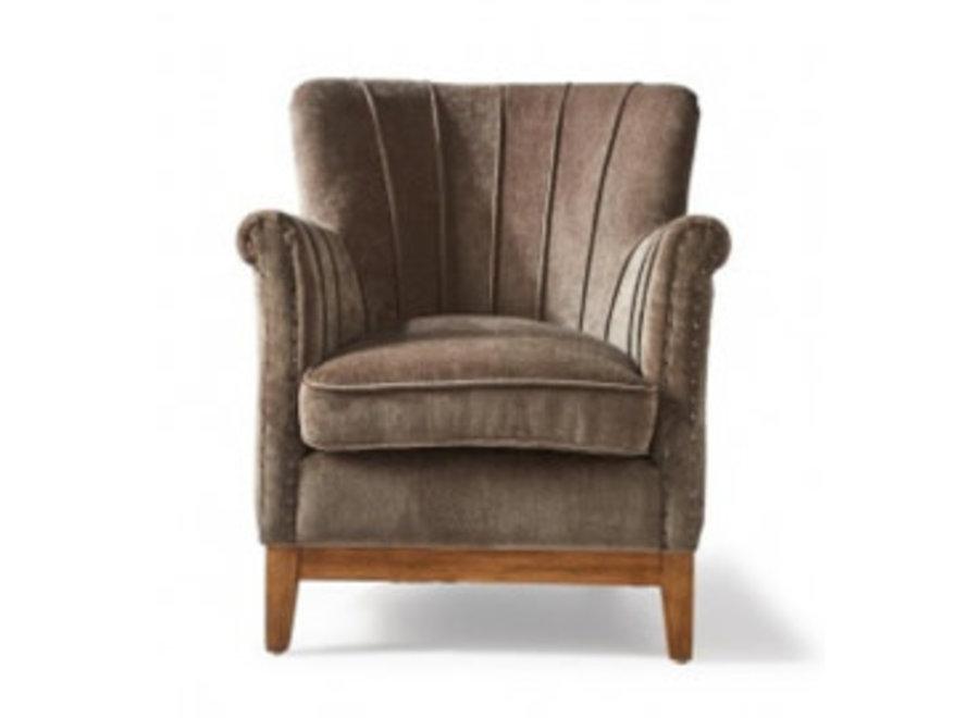 East Village Armchair Velvet Brown