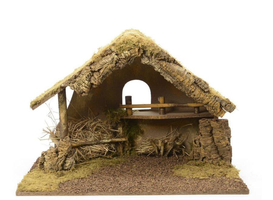 Crib - Nativity House - Green/Colour(S) - 65X38X44 cm