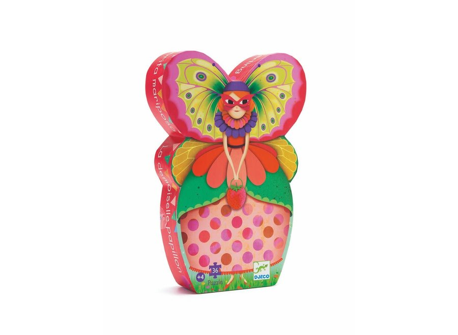 Silhouette Puzzles - The Butterfly Lady
