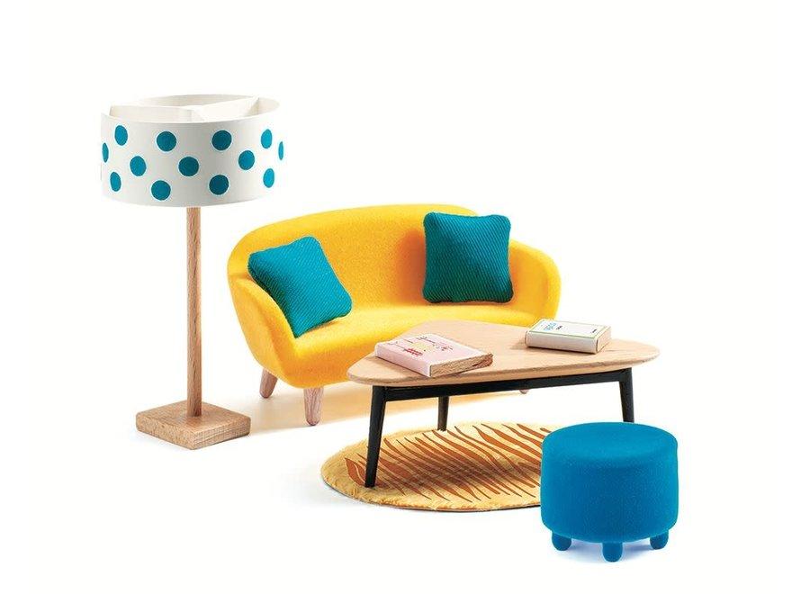 Doll'S House - The Orange Living Room