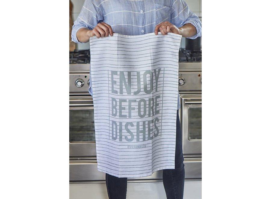 Enjoy Before Dishes Tea Towel