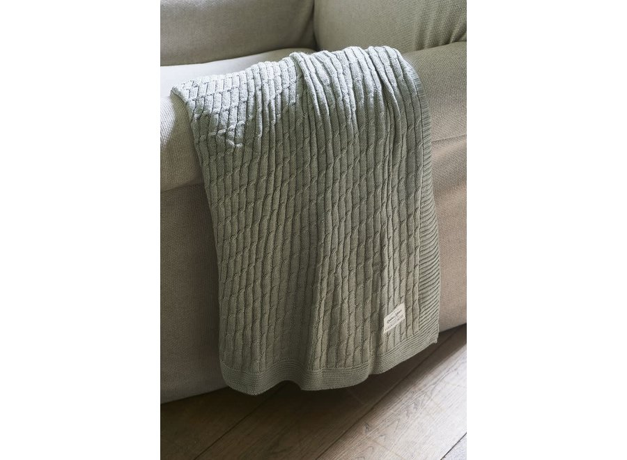 Classic Cable Throw Flax 170X130