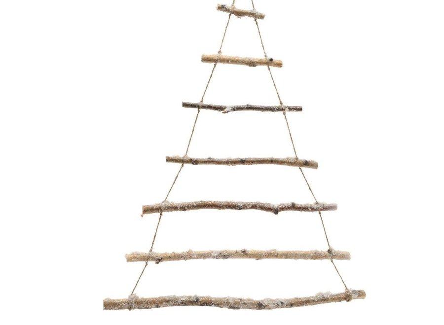 Birch Branch Tree With Snow - 180 cm - Natural/Snow - 180 cm