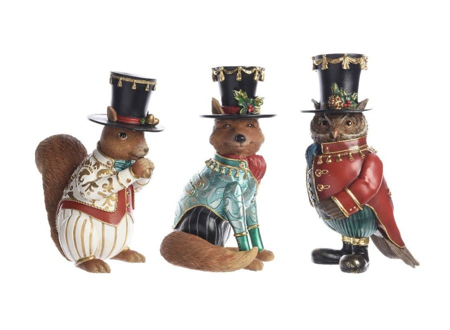 Fox, Squirrel Or Owl With Hat - Multi - Assorted