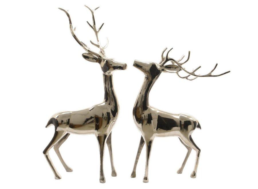 Deer In Silver, 45 cm