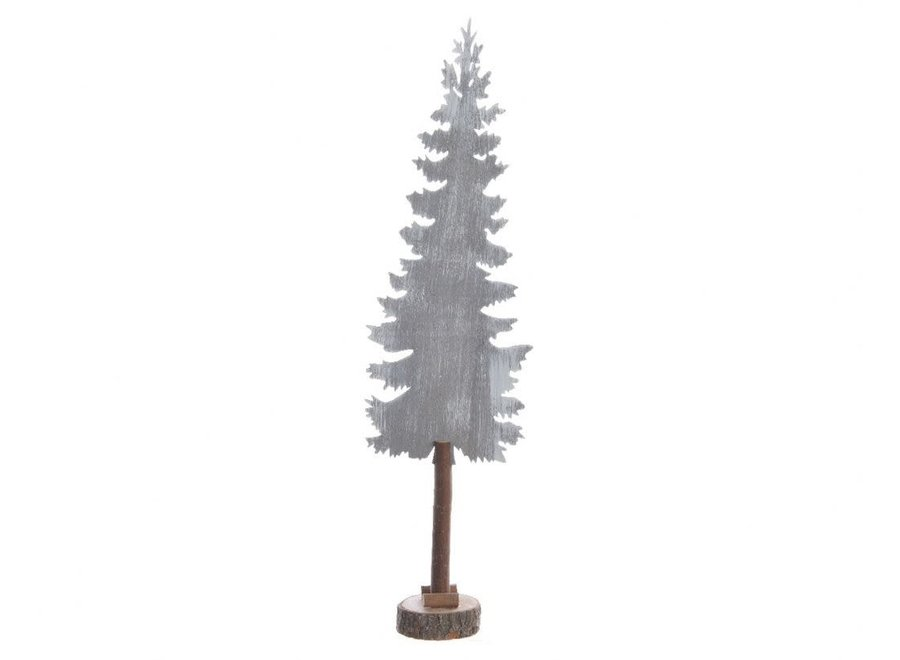 Grey Tree In Stand - Grey Washed - 8X15.5X56 cm